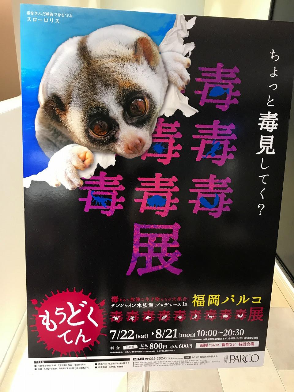 毒毒毒毒毒毒毒毒毒展もうどくてん福岡PARCO開催中!