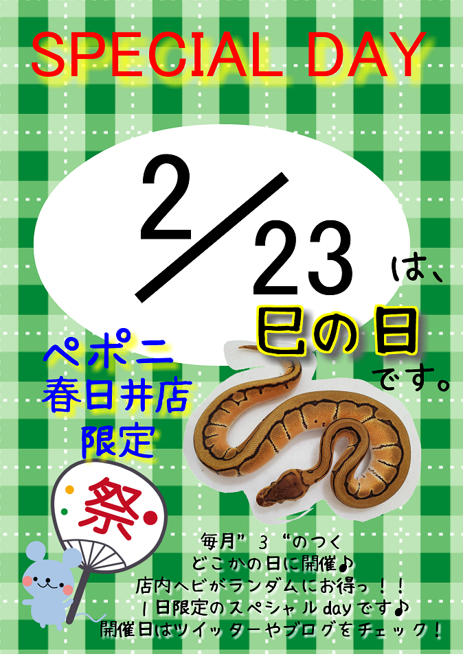 【春ペポニ】巳の日開催日決定‼‼