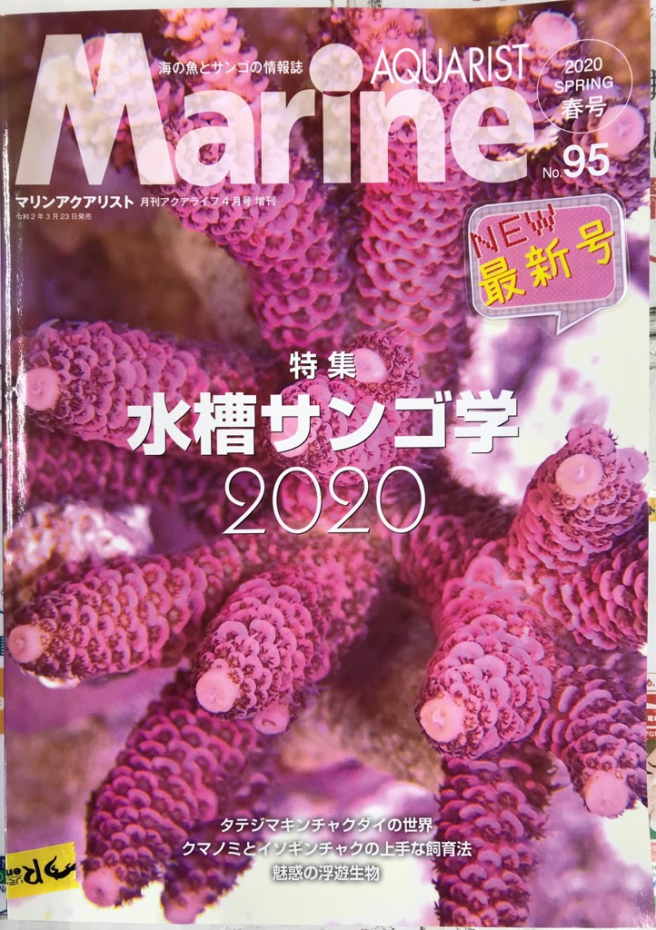 マリンアクアリスト新刊と今日の入荷!