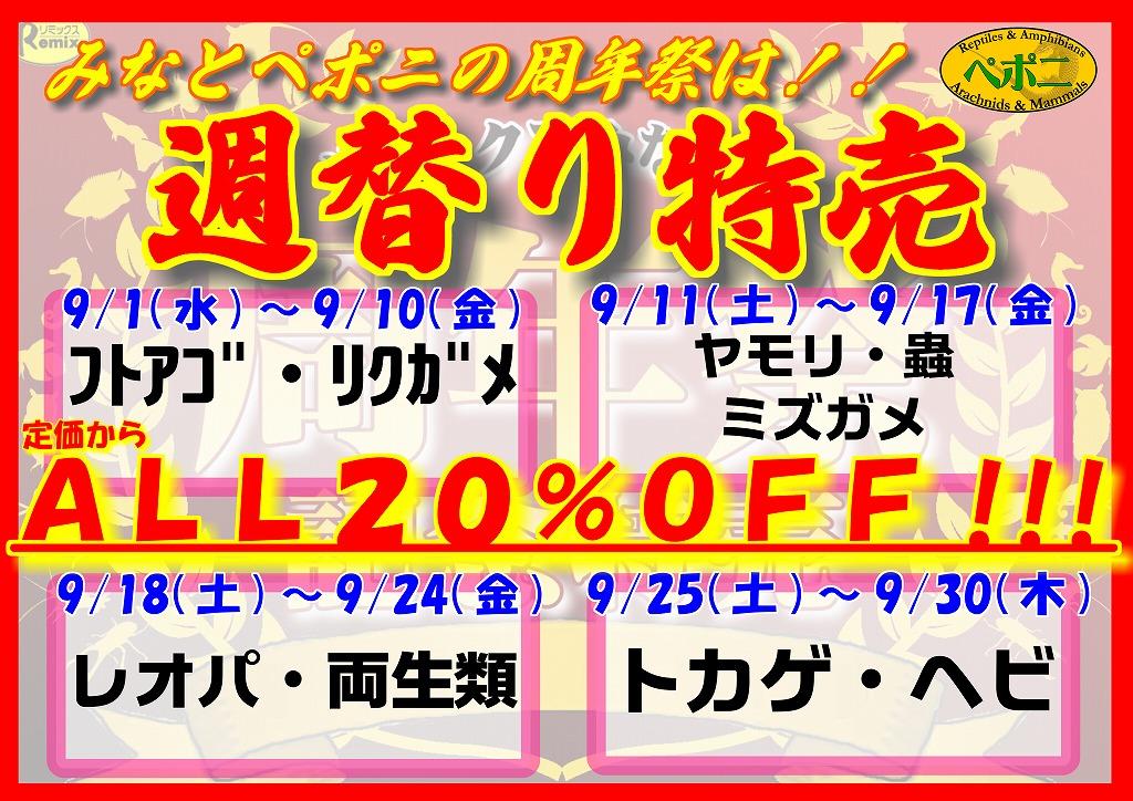 周年祭恒例!週替り特売開催!!@みなとペポニ